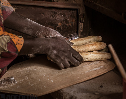 A traditional bakery in Africa