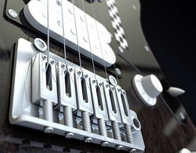 Electric Guitar 3D Model - Cinema 4D