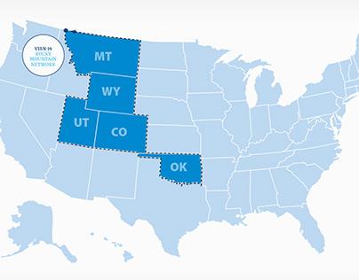 VA Rocky Mountain Network interactive area map