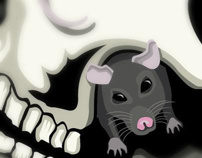 Psychobilly Skull Illustration