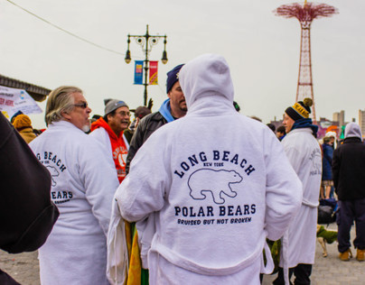 NYC Coney Island Polar Bear Club Swimming Event 2014.