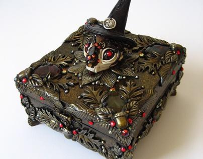 COVEN COMPANION Cat Skull Spell Box