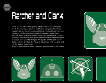 Icon System: Ratchet and Clank