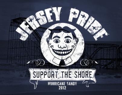 Jersey Pride Hurricane Sandy Relief T-Shirt Design