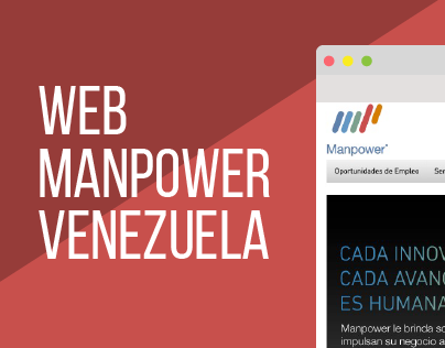 Rediseño Web Manpower Venezuela