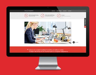 Client work - Responsive Web, Adomera