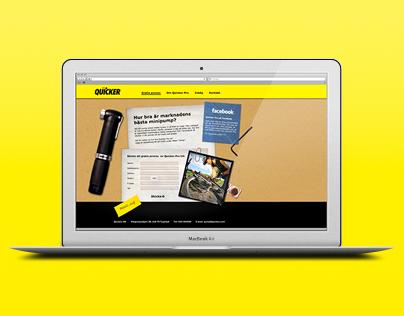 Client work - Web/Print Campaign, Quickex