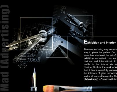 admadadvertising.com web UI Design