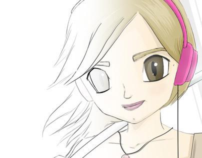Personal exercise: Katana geek girl