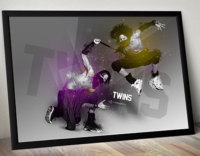 whitegraphic | LES TWINS | fanart design
