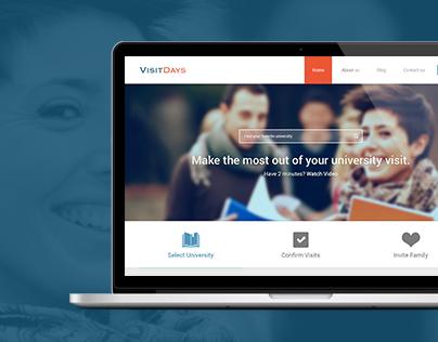 Visit Days & Campus Tours Responsive Website Design