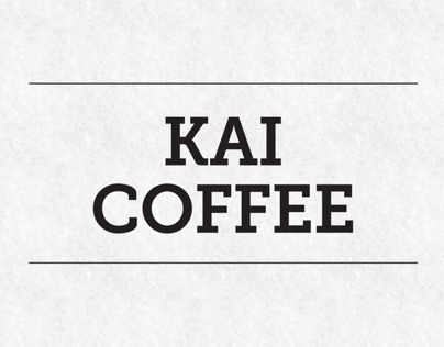 Kai Coffee Menu