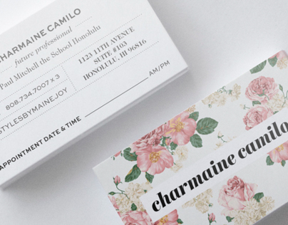 Charmaine Camilo Appointment Cards