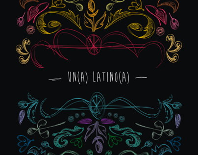 Visual strategy for the expo : Un(a) Latino(a)