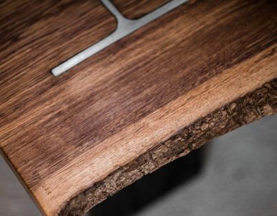 H-Column Coffee Table