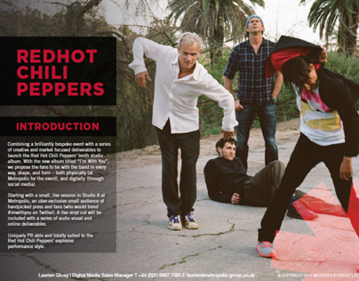 Red Hot Chili Peppers Sales Pitch