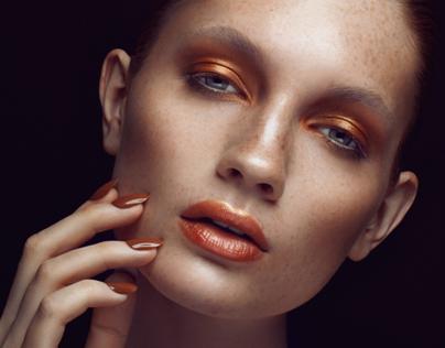 """Bronze Goddess"" for Press the Beauty Magazine SS14"