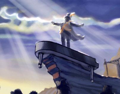 Concept Art for DStv Javas Njongo commercials