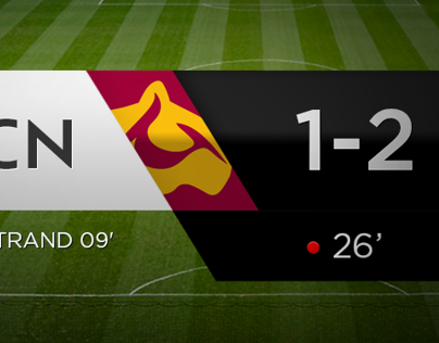 UI design for the Official Danish Superliga website