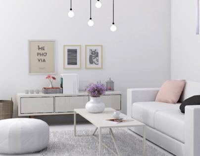 Chic scandinavian inspired living room