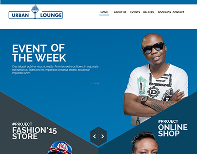Urban Lounge Landing page design