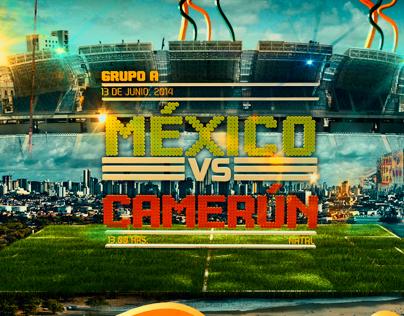 Poster Mexico vs Camerun