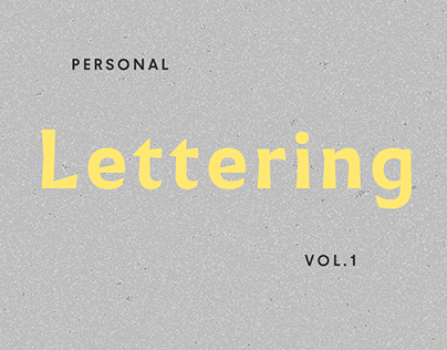 Personal Lettering Vol. 1