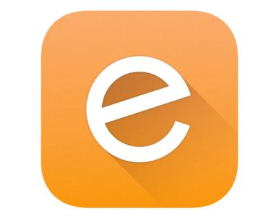 Letter E iOS Icon