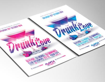 Drunk In Love PSD Flyer Template