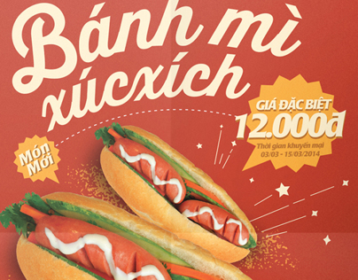 Zoka's promotion : Vietnamese Bread with saussage