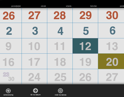 Academic web calendar