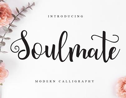 Soulmate Modern Calligraphy