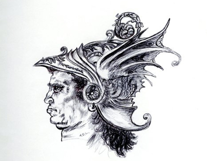 Hand Drawn Da Vinci Study