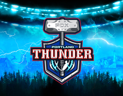 Portland Thunder Arena Football Branding