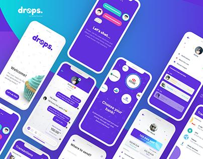 drops. — An instant payment platform: UX/UI case study.