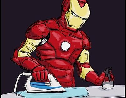 I'm ironing cause I'm Ironman