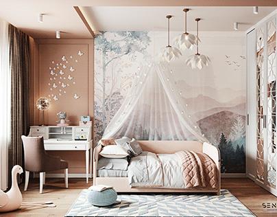 Girl's fairy tale bedroom
