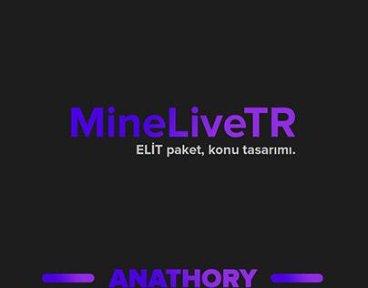 MineLiveTR konu tasarımı.
