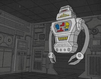 KillBot animation cel