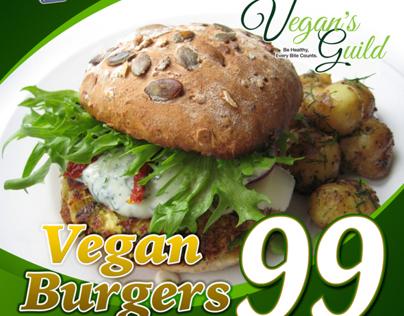 Vegan Burgers Poster Design