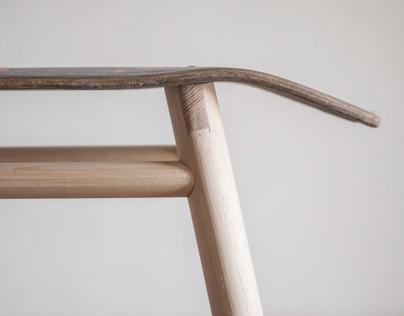 Skateboard stool #2