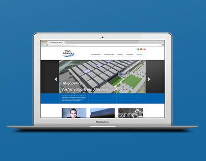 Client work - Webdesign, Train Alliance