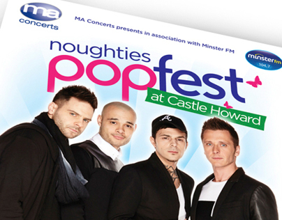 'Noughties Popfest' at Castle Howard - event branding
