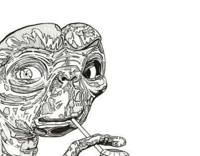 E.T. was a smoker