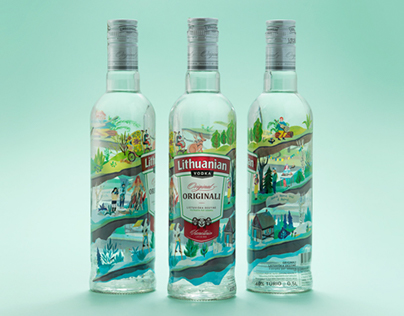 Lithuanian Vodka Spring Limited Edition Packaging