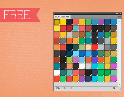 Flat Color Swatches Library for Illustrator & Phtoshop