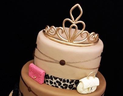 Chanel Handbags & Tiara Cake