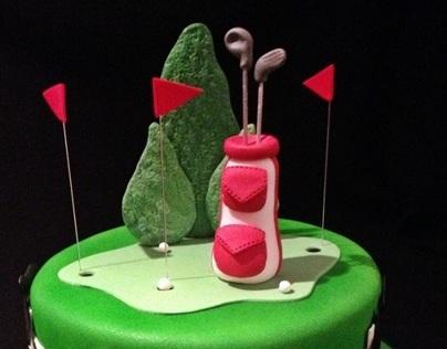Golf & Horse Racing Cake