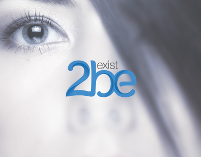 Exist2be logo and branding