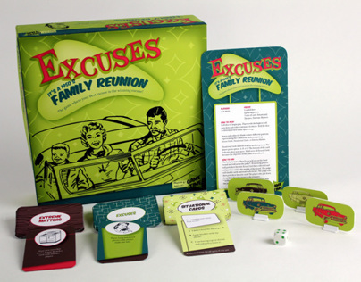 Excuses It's a 1950's family Reunion Game Board